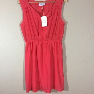 Coveted Clothing L coral sleeveless dress